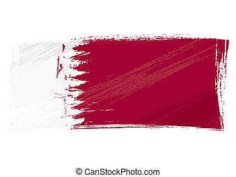 qatar, グランジ, 旗
