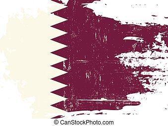 qatar, arranhado, bandeira