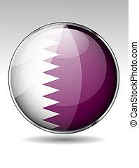 Qatar flag button
