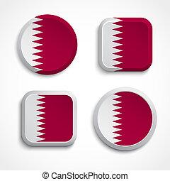 Qatar flag buttons