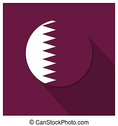 Qatar flag design vector