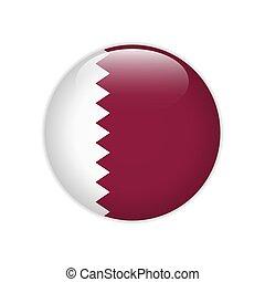 Qatar flag on button