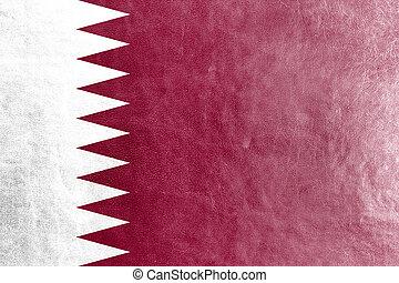 qatar lobogó, festett, képben látható, megkorbácsol, struktúra