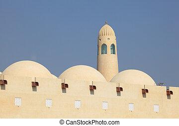 qatar, mezquita, estado, doha, magnífico