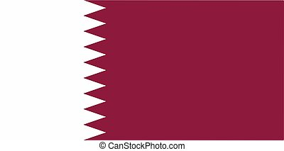 Qatar National Flag Vector illustration