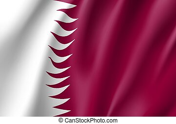 Qatar national flag, vector illustration - Qatar national...