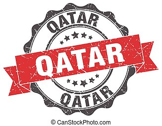 Qatar round ribbon seal