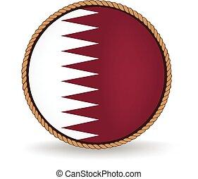 Qatar Seal - Flag seal of Qatar.