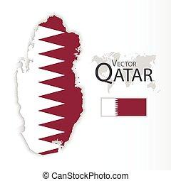 Qatar ( State of Qatar ) ( flag and map ) ( transportation ...