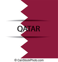 Qatar text on special background allusive to the flag