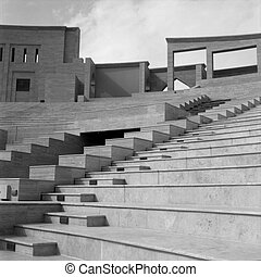 Qatari amphitheatre - Abstract view of part of the recently ...