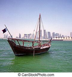 Qatari boom and skyline