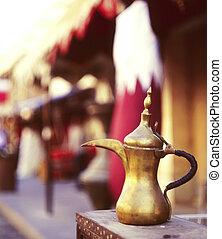 Qatari coffee pot welcome
