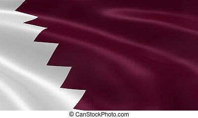 Qatari flag in the wind