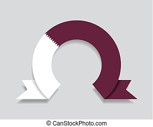 Qatari flag rounded abstract background. Vector illustration...