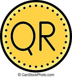 Qatari riyal coin, currency of the State of Qatar - Qatari ...