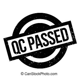 Qc Passed rubber stamp