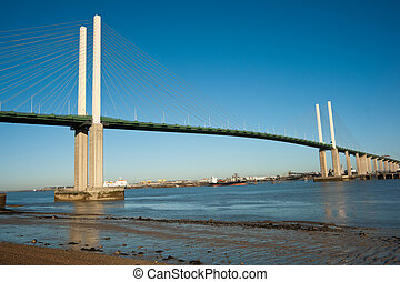 QEII Bridge - Queen Elisabeth II bridge over the river...