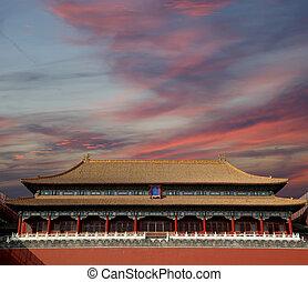 qing, fin, chino, ciudad, --, prohibido, dinastía, ming,...