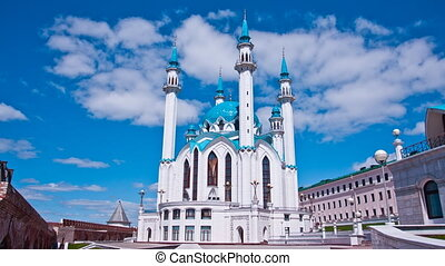 Qol Sharif mosque in Kazan against the blue sky