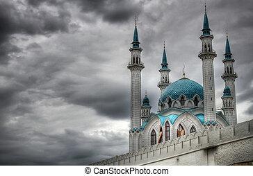Qolsharif Mosque strong islam hdr dark sky