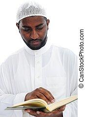 qoran, muslim, 読書, 人, アフリカ