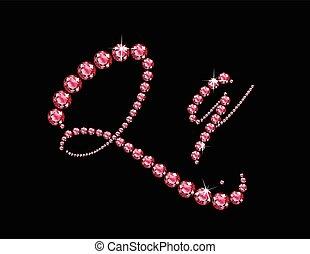 Qq Ruby Script Jeweled Font