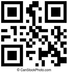 QR Bar Code - Abstract QR Code design illustration with...