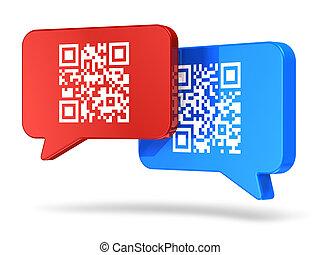 QR code communication concept