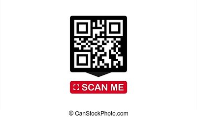 QR code for smartphone. Inscription scan me with smartphone icon. Qr code for payment. illustration