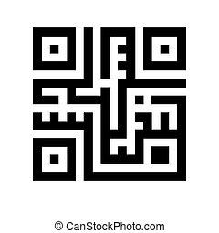 qr, code, illustration.