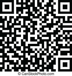 Qr code isolated on white. Vector