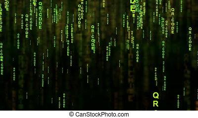 QR code matrix style concept