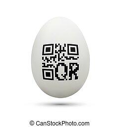 qr code on chicken egg