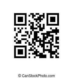 QR code on white isolated background.