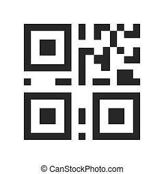 QR code sample for smartphone scanning. Flat Style. isolated...