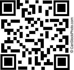 Qr code sample - Vector illustration qr code sample. Bar...