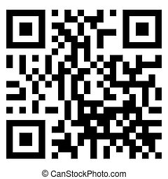 QR Code Scan Isolated on White Background.