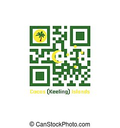 QR code set the color of Cocos (Keeling) Islands flag.
