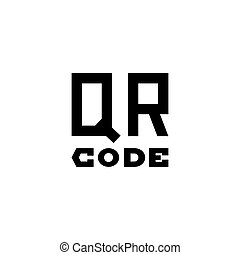 QR Code Text Flat Vector Icon