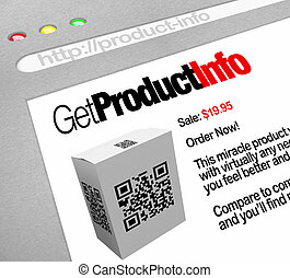QR Code - Web Screen Website of Product Information
