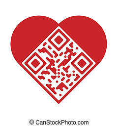 qr, liebe, künstlerisch, code