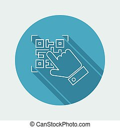 qrcode, mager, pictogram