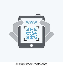Qrcode scanning with tablet