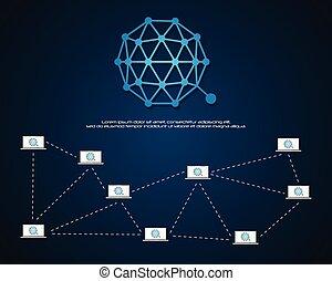 qtum, blockchain, bitcoin, achtergrond, ontwerp