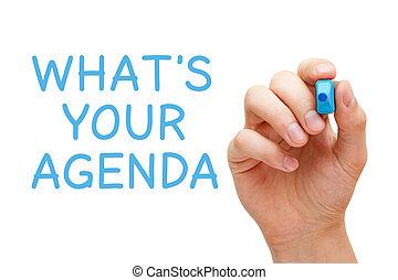 qué, es, su, agenda