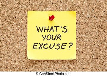 qué, es, su, excusa