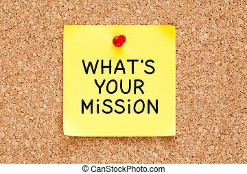 qué, es, su, misión, nota pegajosa