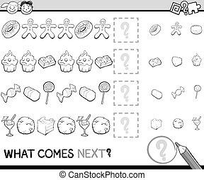 qué, juego, caricatura, viene, luego