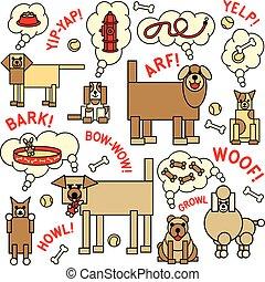 qué, perros, decir, pensar